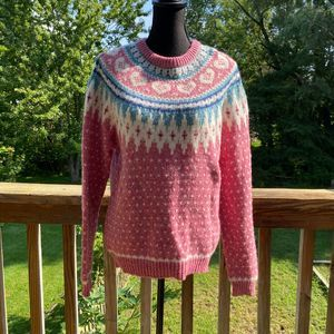 Woolrich The Woman Vintage Pink Nordic Sweater